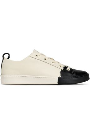 DKNY Two-tone leather sneakers