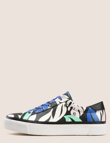 ARMANI EXCHANGE MONSTERA PLATFORM LOWTOP SNEAKER Sneakers Woman f