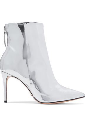 SCHUTZ Ginny mirrored-leather ankle boots
