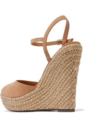 SCHUTZ Platform suede espadrilles sandal wedges
