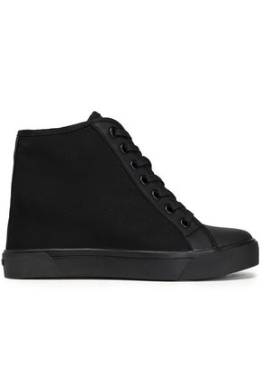 DKNY Cindy rubber-trimmed mesh wedge sneakers