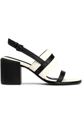 DKNY Two-tone leather slingback sandals