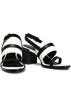 510ee9441e19 ... DKNY Two-tone leather slingback sandals ...