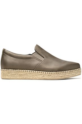 DKNY Textured satin espadrille sneakers
