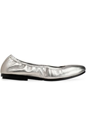 DKNY Metallic leather ballet flats