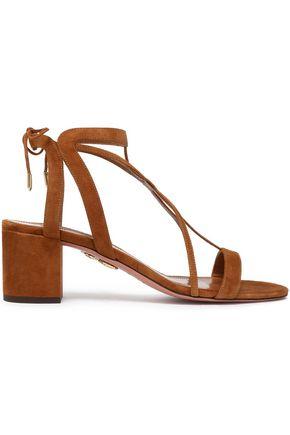 AQUAZZURA Fiji cutout suede sandals