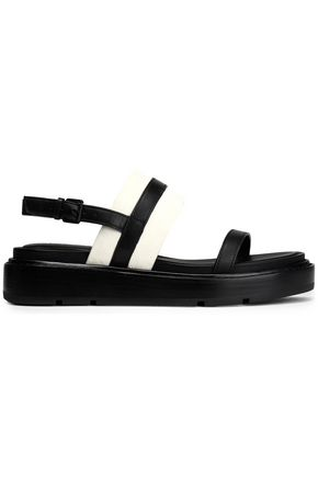 DKNY Two-tone leather sandals