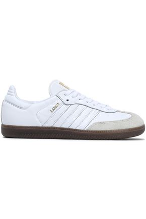 ADIDAS ORIGINALS Suede-trimmed leather sneakers