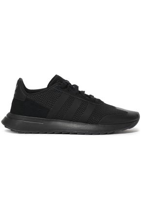 ADIDAS ORIGINALS Suede-trimmed knitted sneakers