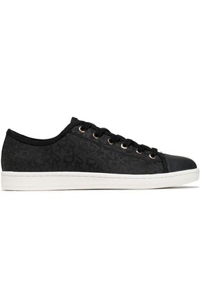 DKNY Rubber-trimmed jacquard sneakers