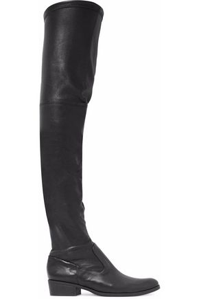 SCHUTZ Stretch-leather over-the-knee boots