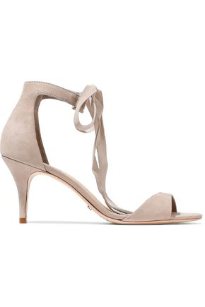 SCHUTZ Bow-detailed suede pumps