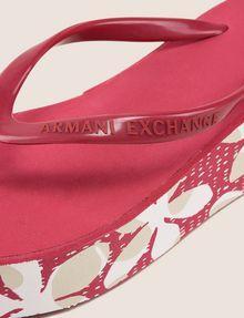 ARMANI EXCHANGE FLORAL DOT PLATFORM FLIPFLOP flip-flop Woman e