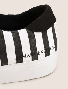 ARMANI EXCHANGE STRIPED CANVAS LOW-TOP SNEAKER Sneakers Woman a