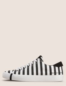 ARMANI EXCHANGE STRIPED CANVAS LOW-TOP SNEAKER Sneakers Woman f