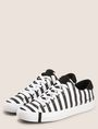 ARMANI EXCHANGE STRIPED CANVAS LOW-TOP SNEAKER Sneakers Woman r