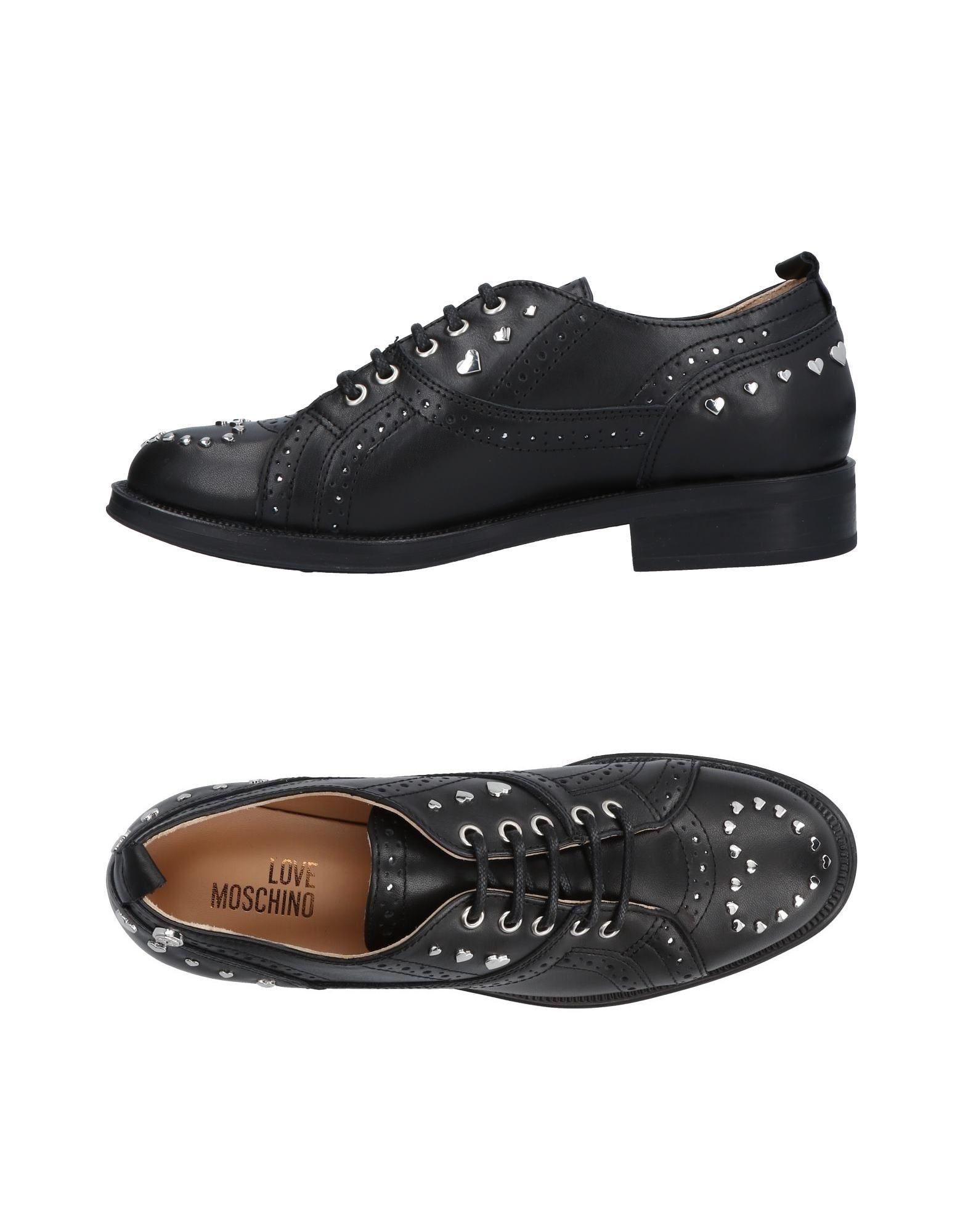 LOVE MOSCHINO Обувь на шнурках цены онлайн