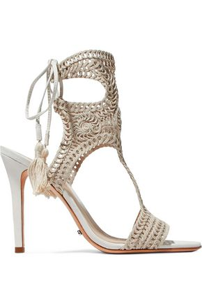 SCHUTZ Veca crocheted sandals
