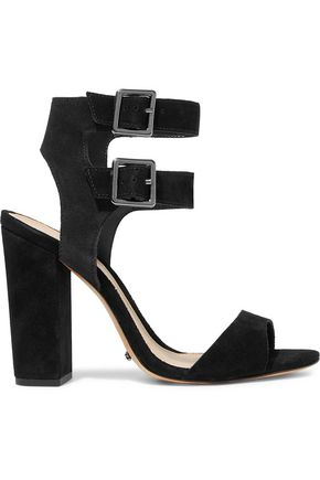 SCHUTZ Buckled nubuck sandals
