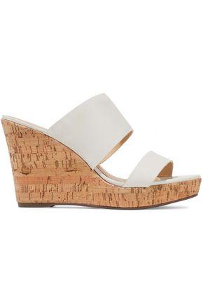 SCHUTZ Kai leather wedge sandals