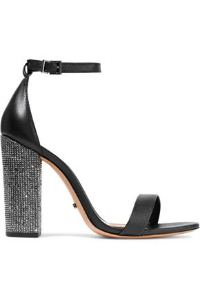 SCHUTZ Hara crystal-embellished leather sandals
