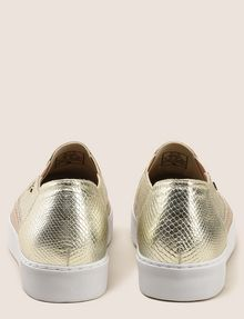 ARMANI EXCHANGE SNAKE-EMBOSSED SLIP-ON SNEAKERS SLIP-ON Woman d