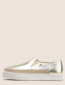 ARMANI EXCHANGE SNAKE-EMBOSSED SLIP-ON SNEAKERS SLIP-ON Woman f