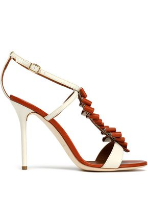 MALONE SOULIERS Ruffled leather sandals
