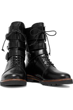 STUART WEITZMAN Embellished lace-up ankle boot