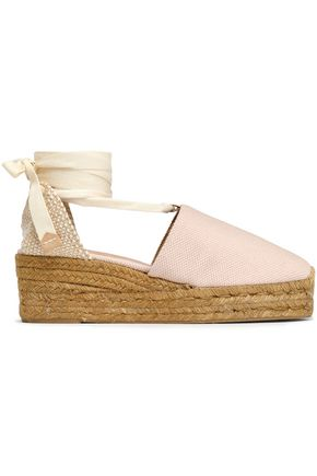 CASTAÑER Woven and canvas espadrilles