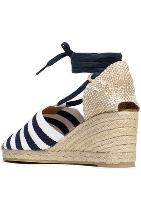6504ed312bf Woven and striped canvas wedge espadrilles | CASTAÑER | Sale up to ...