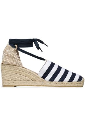 CASTAÑER Campesina canvas and jacquard wedge espadrilles