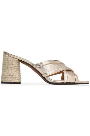 CASTAÑER Metallic leather sandals