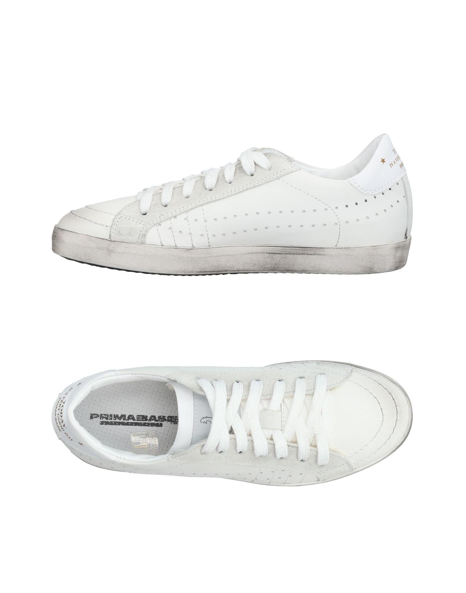《送料無料》PRIMABASE レディース スニーカー&テニスシューズ(ローカット) ホワイト 36 革