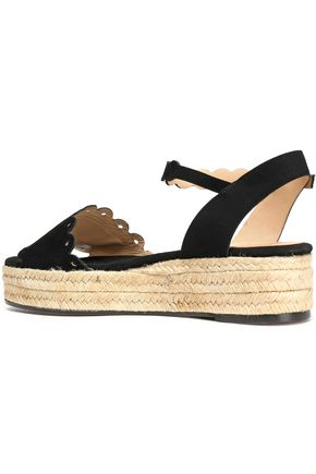 50f276dc96e Ana scalloped suede espadrille platform sandals | CASTAÑER | Sale up ...