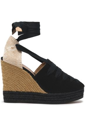 CASTAÑER Lula canvas wedge espadrilles