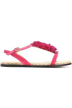 CASTAÑER Fringe-trimmed suede sandals
