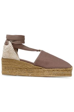 Castañer WOMAN WOVEN AND CANVAS ESPADRILLES TAUPE