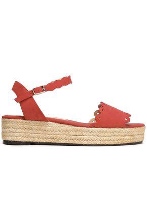 CASTAÑER Laser-cut suede platform espadrille sandals