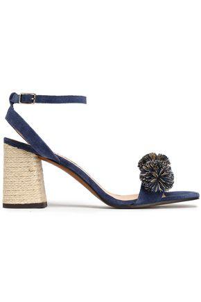 CASTAÑER Pompom-embellished suede sandals