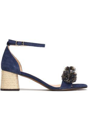 CASTAÑER Xuxa pompom-embellished suede sandals