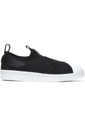 ADIDAS ORIGINALS Leather-trimmed knitted sneakers
