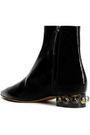 ELLERY Embellished patent-leather ankle boots