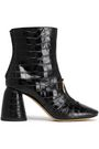 ELLERY Croc-effect leather ankle boots
