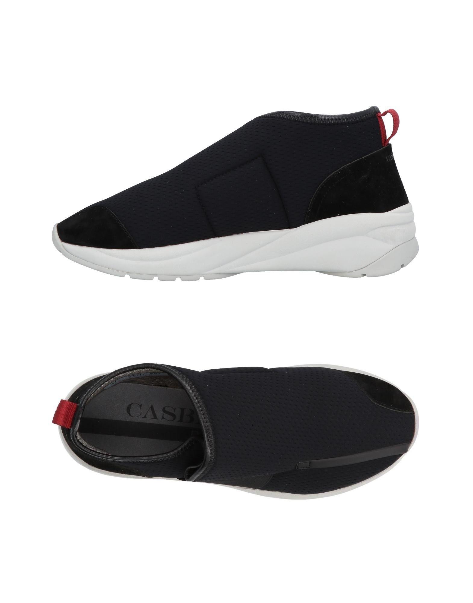 《送料無料》CASBIA メンズ スニーカー&テニスシューズ(ローカット) ブラック 43 革 / 紡績繊維