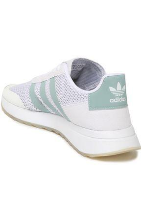 ADIDAS ORIGINALS Suede-trimmed mesh sneakers