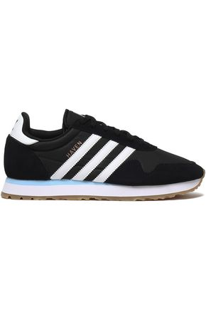 ADIDAS ORIGINALS Leather-trimmed suede and knitted sneakers