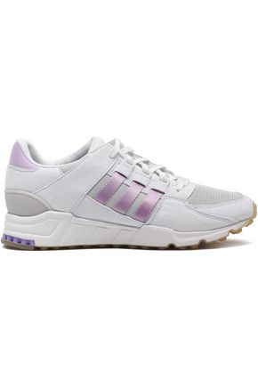 ADIDAS ORIGINALS Mesh-paneled leather sneakers