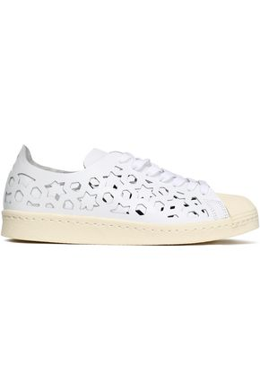 ADIDAS ORIGINALS Superstar laser-cut leather sneakers