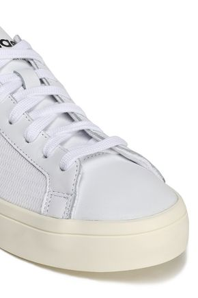 ADIDAS ORIGINALS Leather and mesh sneakers